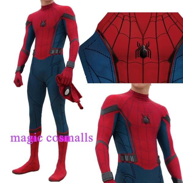 Simile Spiderman Tipo Homecoming Cosplay Costume Carnevale Animazione Uomo Bambino Cosplay SPM012